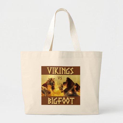 VIKINGS vs. BIGFOOT - Funny Fantasy Mashup Canvas Bag