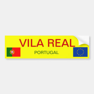 Vila Real (Portugal) Bumper Sticker