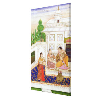 Vilaval Ragini: Woman at her Toilet Stretched Canvas Print