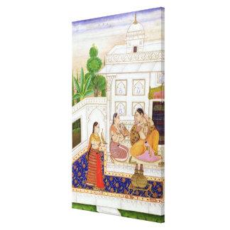 Vilaval Ragini Woman at her Toilet Canvas Prints