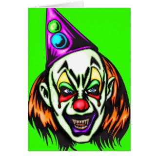 Vile Evil Clown Note Card