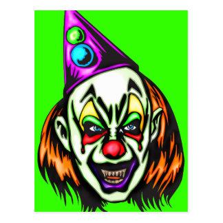 Vile Evil Clown Postcard