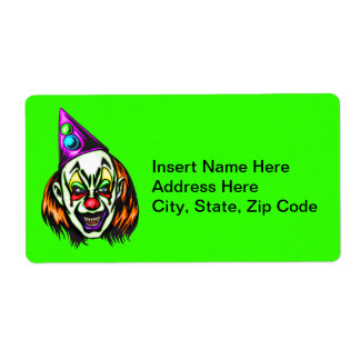 Vile Evil Clown Shipping Label