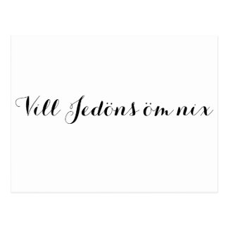 Vill Jedöns oem nothing - much noise around Postcard