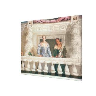 Villa Barbaro. Lady and Nurse on the Balcony Gallery Wrap Canvas