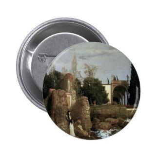 Villa By The Sea by Arnold Bocklin, Symbolism Art 6 Cm Round Badge