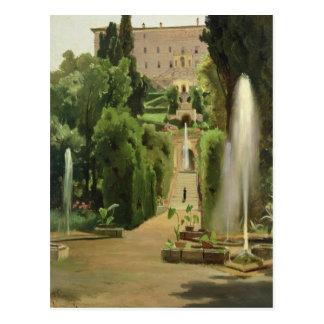 Villa D'Este, Tivoli, 1869 Postcard