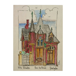 Villa Ginette on Rue des Bains | Normandy, France Wood Print