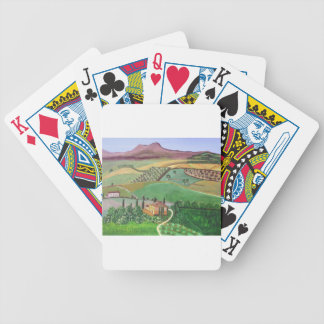 Villa in the Hill Bicycle Playing Cards