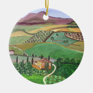 Villa in the Hill Christmas Ornament