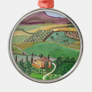 Villa in the Hill Christmas Ornament
