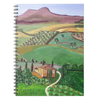 Villa in the Hill Spiral Notebook