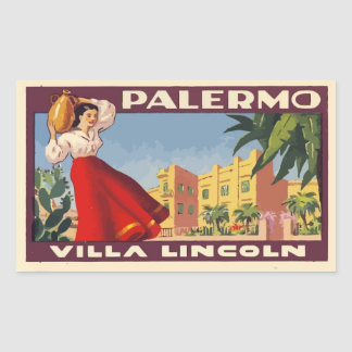 Villa Lincoln (Palermo - Italy) Rectangular Sticker