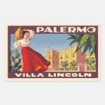 Villa Lincoln (Palermo - Italy) Rectangular Sticker
