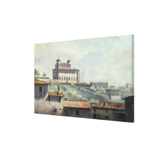 Villa Medici, Rome, c.1776 (oil on paper) Canvas Print