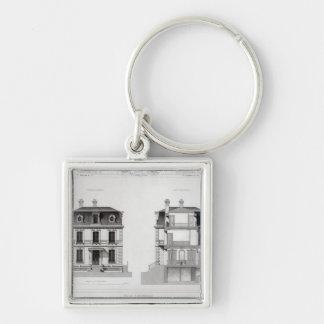 Villa Suburbaine, Premier Chasse at St. Cloud Silver-Colored Square Key Ring
