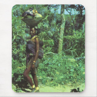 Village,   Angola returning from market Mouse Pad