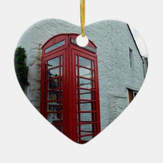 Village Book Swap Ceramic Heart Decoration