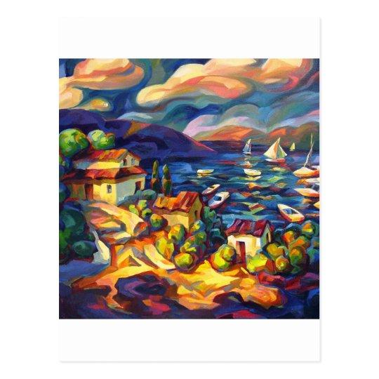 Village by the Sea Postcard