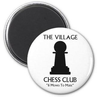 Village Chess Club 6 Cm Round Magnet