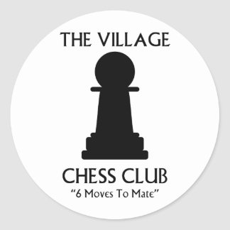 Village Chess Club Classic Round Sticker