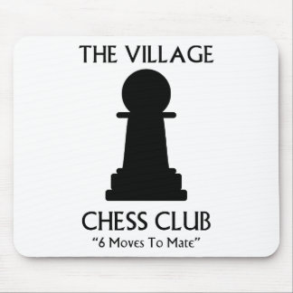 Village Chess Club Mouse Mat