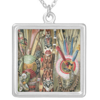 Village chief of the Loango Coast Silver Plated Necklace