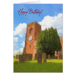 Village Church Birthday Card. Card