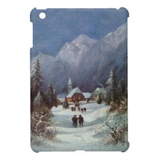 Village church in the mountains iPad mini case