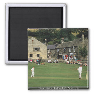 Village cricket, low Bradford, South Yorkshire, U. Square Magnet