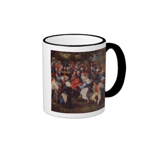 Village Dance (oil on panel) Coffee Mug
