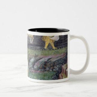 Village farmers doing work in April Two-Tone Coffee Mug