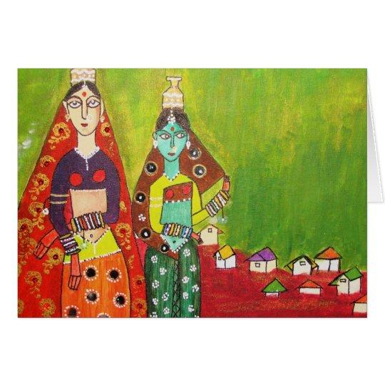 Village Girls Card