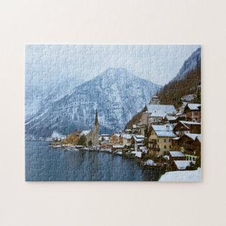 Village Hallstatt On The Lake - Salzburg Austria Jigsaw Puzzle