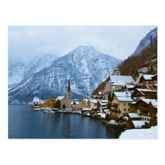 Village Hallstatt On The Lake - Salzburg Austria Postcard