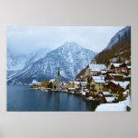 Village Hallstatt On The Lake - Salzburg Austria Poster