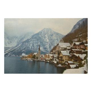 Village Hallstatt On The Lake - Salzburg Austria Wood Wall Art