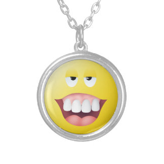 Village Idiot Smiley Face Pendant