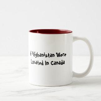 village igloo, If Afghanistan Were Located In C... Two-Tone Mug