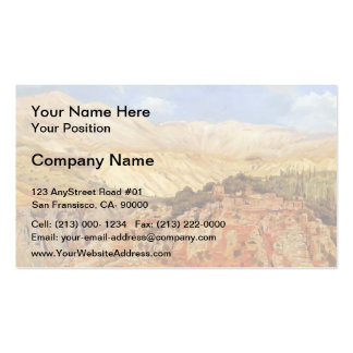 Village in Atlas Mountains, Morocco by Edwin Weeks Business Card Template