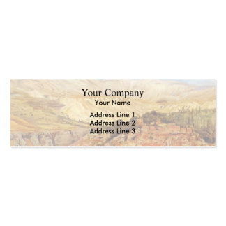 Village in Atlas Mountains, Morocco by Edwin Weeks Business Card