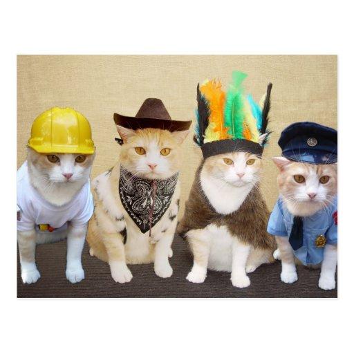 Village Kitties Postcard
