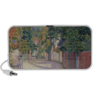 Village Lane (oil on canvas) Travelling Speaker