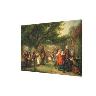 Village Merrymaking Canvas Print