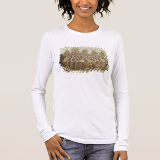 Village of an Indigenous Tribe in Florida, engrave Long Sleeve T-Shirt
