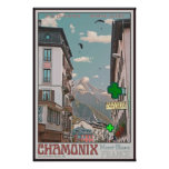 Village of Chamonix (white) Poster
