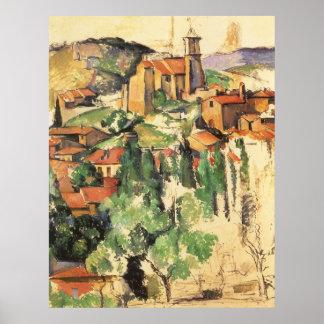 Village of Gardanne by Paul Cezanne, Vintage Art Poster