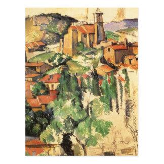 Village of Gardanne Cezanne Vintage Impressionism Postcard