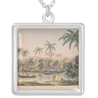 Village of Matavae, Tahiti Silver Plated Necklace