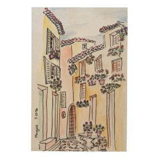 Village of Mougins | Provence, South of France Wood Print